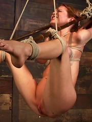 Massive boobs, a category 5 suspension & skull fucking. Brutal bondage, devastating orgasms. Art!